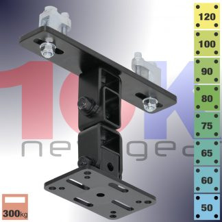 10Knew - Powerdrive KBD4000 Series Loudspeaker Girder-Beam Bracket. Image shown is KBD4100S-B
